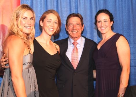 Erin, me and Ellen with Joe Namath