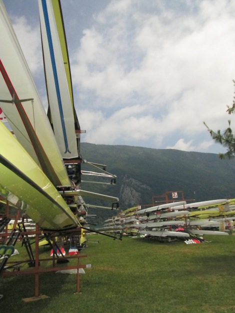 Our pair on the rack in Aiguebelette