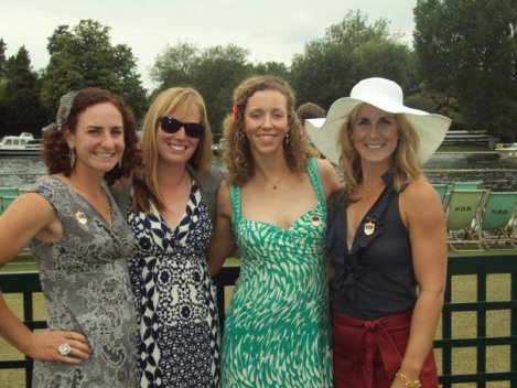 Stesha, Catherine, me, and Erin at Henley in 2011