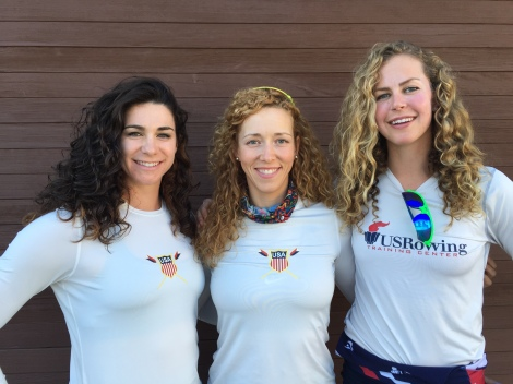 Amanda Polk, Megan Kalmoe and Grace Luczak are the US Women's curl girls